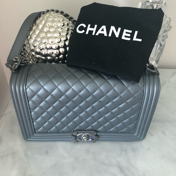 CHANEL Handbags - SOLD ❤️in other site Chanel Le Boy 2014 Mint